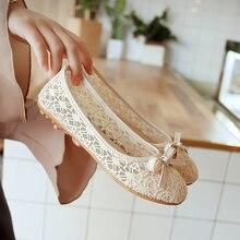 Women Ballet Shoes Flats Cut Out Leather