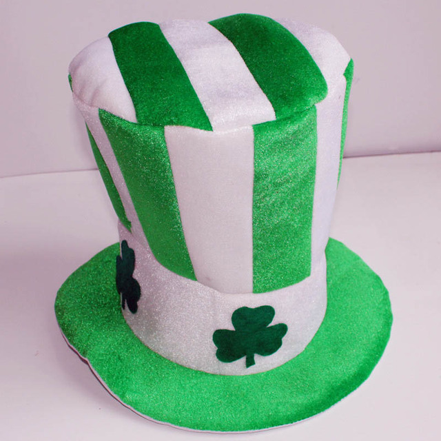 1Pc Irish Hat St. Patricks Day Party Hat Unisex Adult Dress Up Masquerade Top  Hat 688956427d80