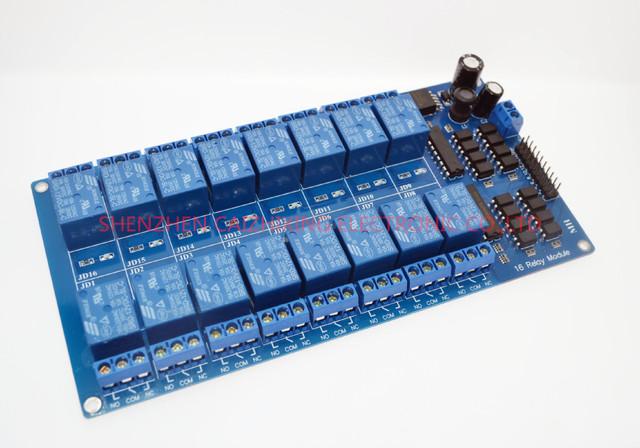 2015 China Atacado 12 V 16 Canal Módulo de Relé para arduino AVR PIC ARM DSP Eletrônico Placa de Relé Cinto optoacoplador isolamento