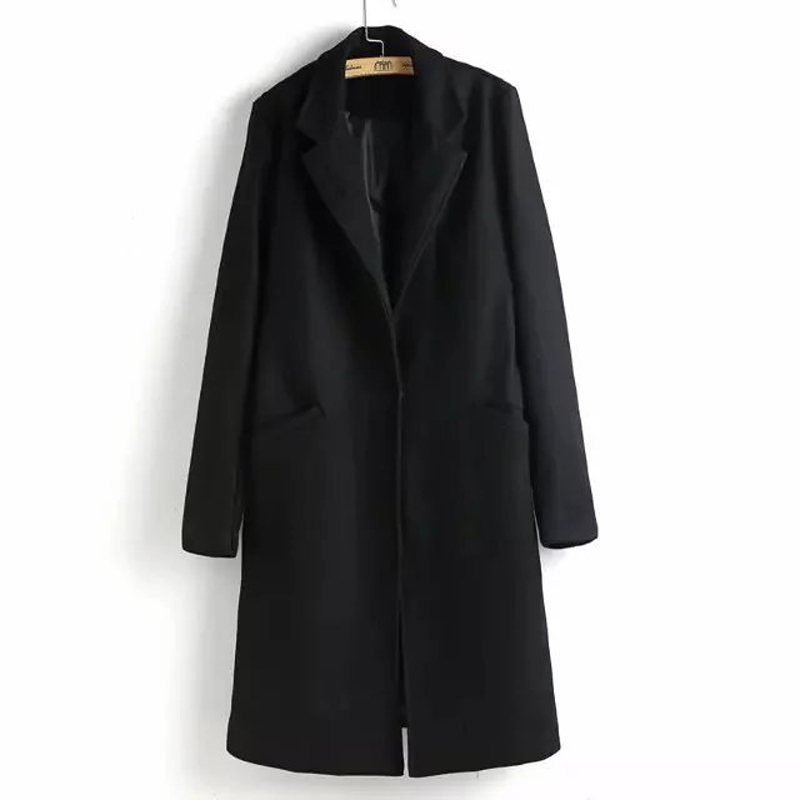 Online Get Cheap Ladies Long Black Wool Coat -Aliexpress.com