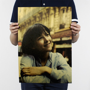 Sophie Marceau/французская актриса красавица/La Boum/крафт-бумага/кафе/бар постер/ретро постер/декоративная живопись 51x35.5cmHigt качество