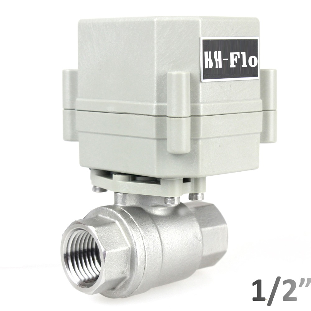 HSH Flo 1 2 DN15 110 230VAC 2 Way Motorized Ball Valve Normally Closed Stainless CR2