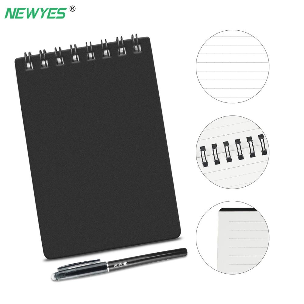 NEWYES Erasable <font><b>Notebook</b></font> Mini A7 Paper Reusable Smart Microwave Wave Cloud Erase Notepad Portable Diary Office School Kids Gift image