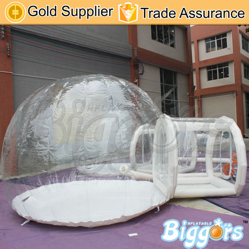 Giant Outdoor Single Tunnel Family Camping Backyard Tent Inflatable Transparent Bubble Tent inflatable cartoon customized advertising giant christmas inflatable santa claus for christmas outdoor decoration