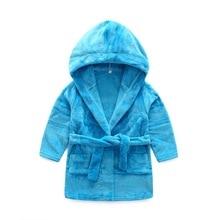 Baby Bathrobes For Children Kids Boys Girls Hooded Terry Bathrobe Winter Baby Minnie Bath Robes Towel Velvet Pajamas Gown недорого