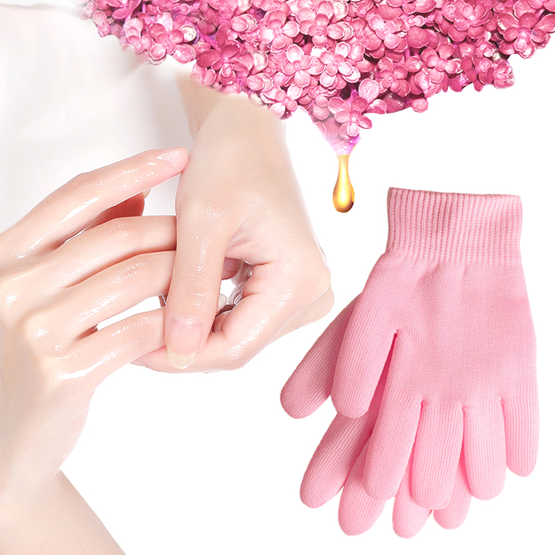 Gel Spa Gloves Moisturizing Whitening Exfoliating Pink Mask Ageless Beauty Hand Mask Hands Skin Care High Quality Silicone Glove