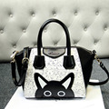 Hight Quality Womens Lovely Cat Handbag Girls Casual Cartoon Bag OL Crossbody Messenger Shoulder Bag