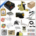 Professional 1 Set Tattoo Kit Mini Gun Rotary Machine Equipment sets +Ink +Power Supply +Needle + CD for Beginners Body Art