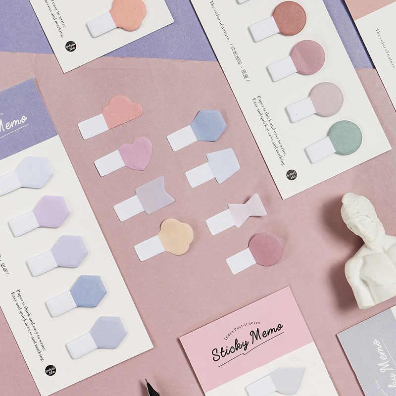 Mohamm серия естественных цветов Kawaii милый блокнот для заметок дневник стационарные хлопья скрапбук декоративные Липкие заметки