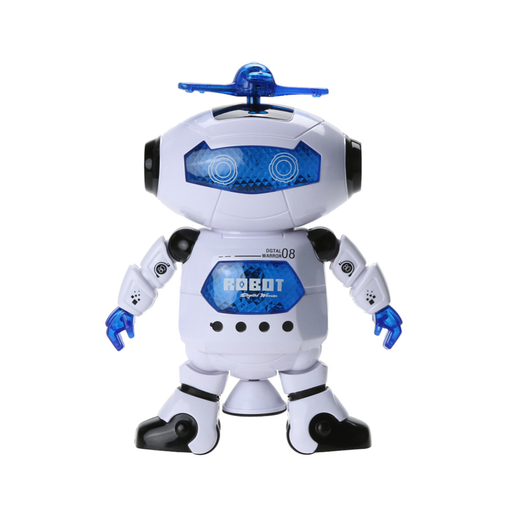 360 Rotating Space Dancing Robot Musical Walk Lighten Electronic Toy Robot Christmas Birthday Gift Toy for Children Kids 100% new for air conditioning air conditioner fan motor dc motor sic 310 40 2 40w 0010403322a dc310v