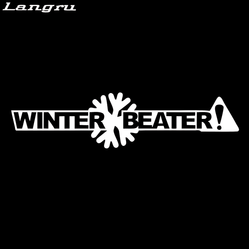 2x WINTER BEATER sticker vinyl funny decal JDM