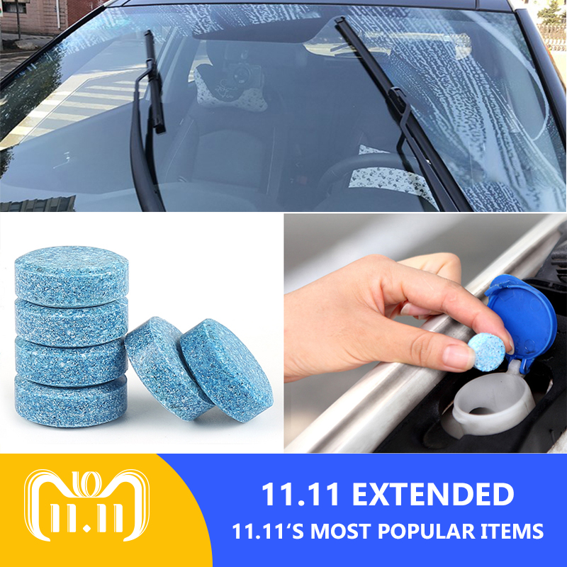 CAR-partment 5pcs 20L Windshield Glass Washer Cleaner Compact Effervescent Tablets