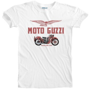 2019 Summer Fashion Vintage Classic Italian motorcycle fans Biker Astore 500 '49 Motorcycle Colour Print T-Shirt T Shir image