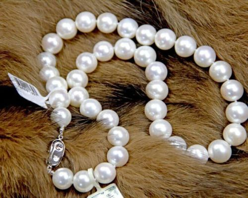 wholesale Natural 18 Rare 10-11mm AAA+ white Round pearl necklacewholesale Natural 18 Rare 10-11mm AAA+ white Round pearl necklace