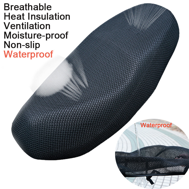 3D Breathable Mesh Motorcycle Seat Cover Electric Bike Net Seat Covers Cooling Protector Durable Black,Red,Gold,Blue,Colorful M(China)