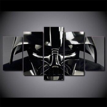Tường Modular Tranh Ảnh Nghệ Thuật HD Trang Trí Nội Thất 5 Bảng Điều Chỉnh Star Wars Movie Nhân Vật Cho Phòng Khách Hiện Đại In Canvas Poster