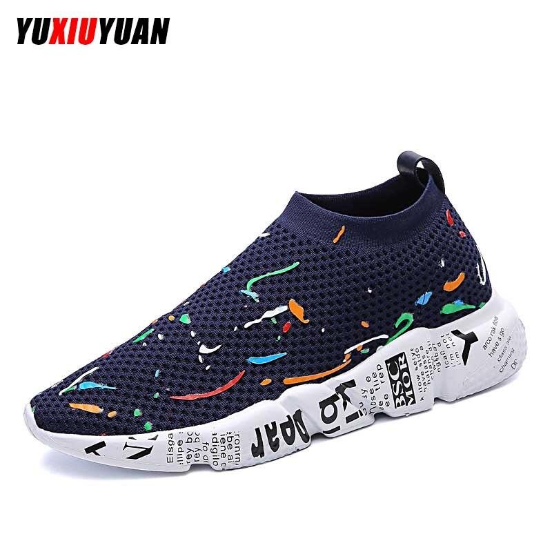 2019Breathable Net Surface Running Shoes Fshion Men Women Comfortable Lightweight Wearable