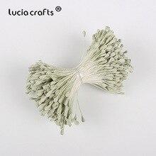 Lucia el sanatları 330 adet 3mm mat çift kafaları çiçek ercik pistil kek dekorasyon zanaat DIY C1202