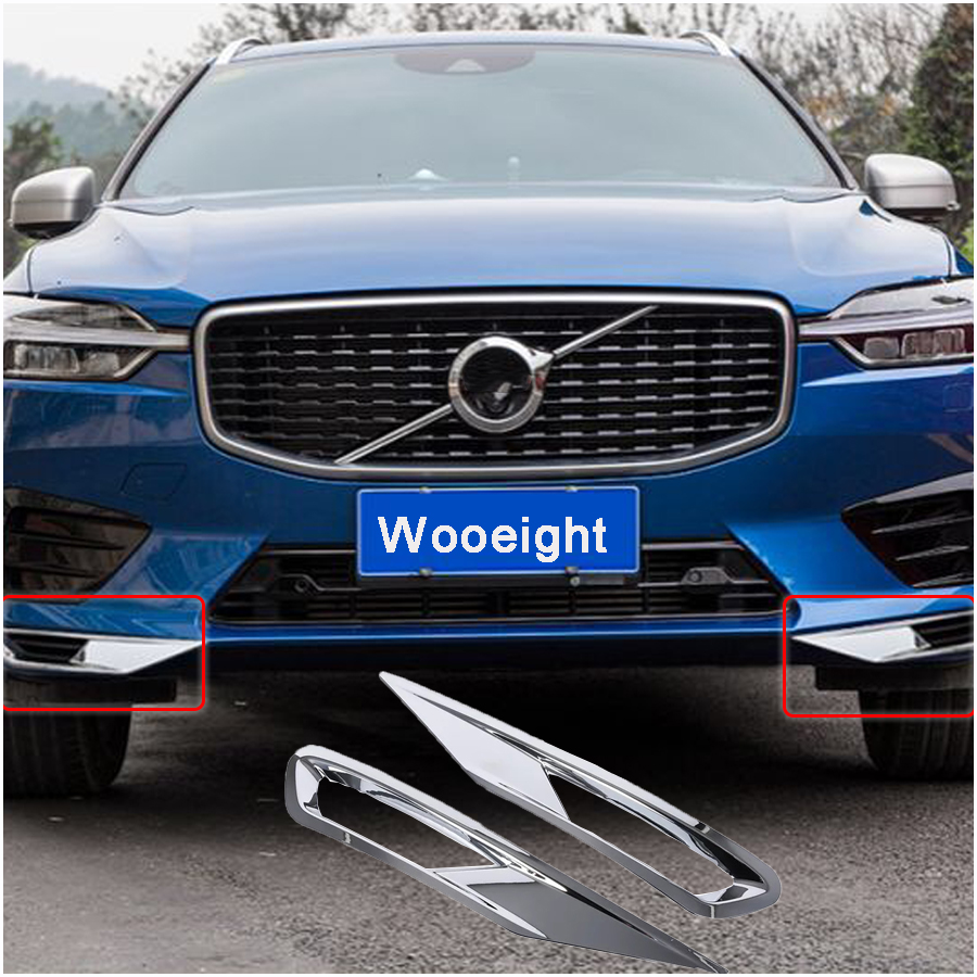 For Volvo XC60 2018 2019 2Pcs ABS Chrome Plated Front