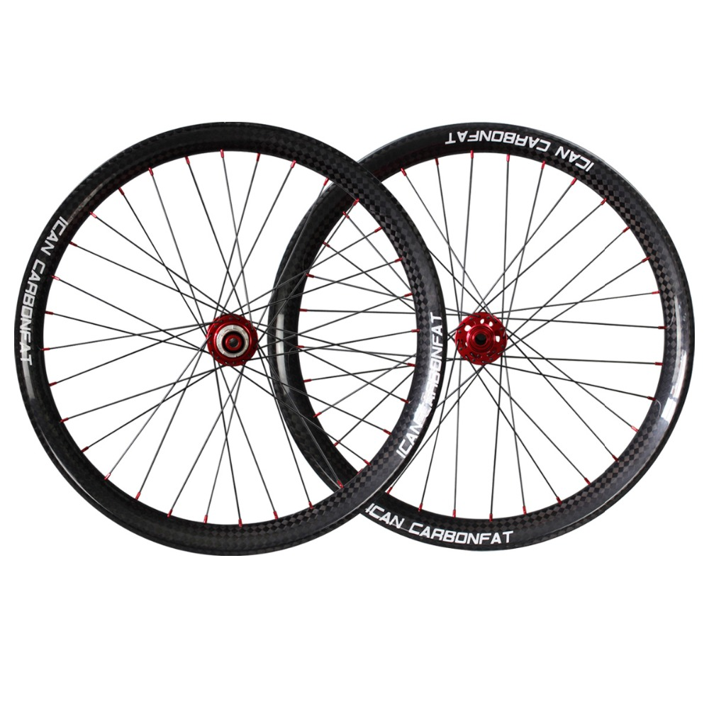 2016 ican brand carbon fat bike wheels clincher tubeless ready fatbike wheelset 65mm chinese carbon wheel FW65-TL