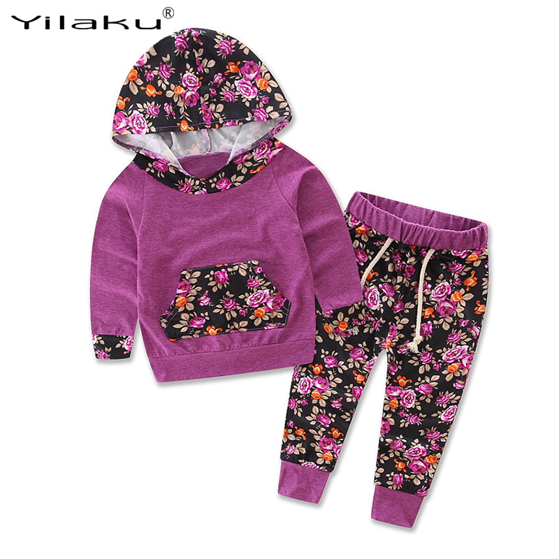 Spring Autumn Girls Clothing Sets Kids Clothes Suit Fashion Print Children Hoodies+Pants Suits Baby Girl Tracksuit for Kid CF507