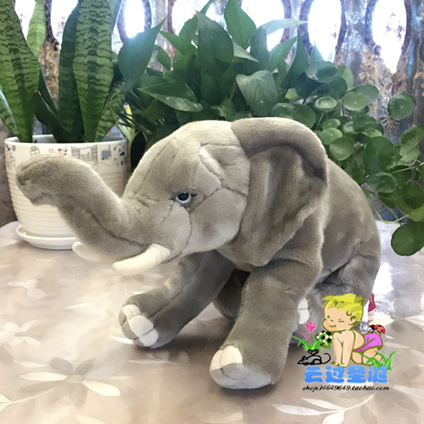 Super Cute Toy Simulation Wild Animals Gray Elephant Large  Dolls Toys Children Gifts Pillow Good Quality wild animal toy original genuine wild jungle zoo farm plastic animals elephant tiger polar bear cheetah children s gift
