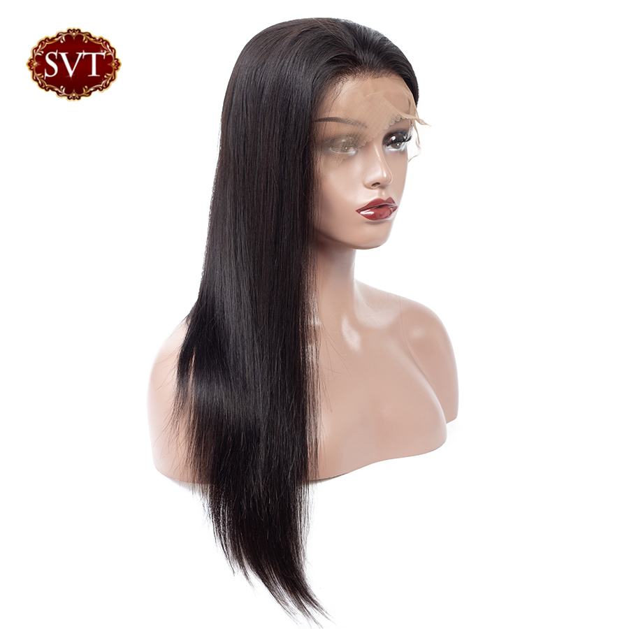 SVT Hair Lace Front Human Hair Wigs Pre Plucked For Black Women Remy Malaysian Straight Lace