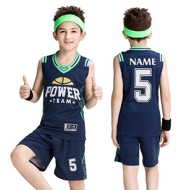 2017 Newest Men Basketball Jersey Shirt and Short Uniform Kids Sport Suits V-neck XXS-3XL