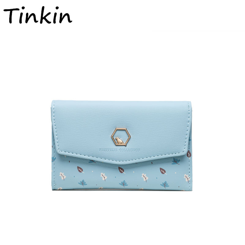 Fashoin Printing PU leather casual women wallet coin purse