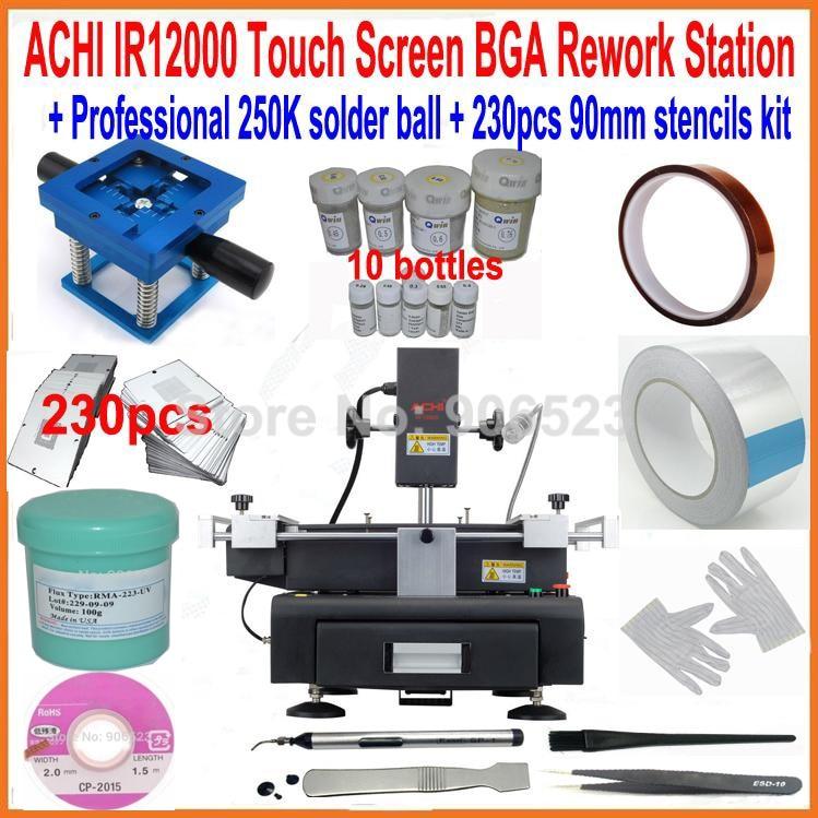 ACHI IR12000 bga rework station motherboard repair machine 250K bga solder ball 230pcs 90mm bga stencils