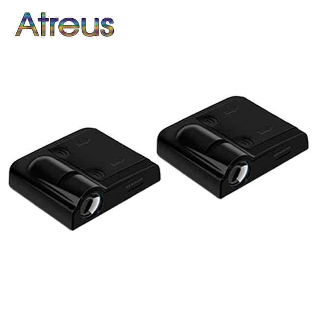 Atreus Car Door Welcome Light LED Logo Laser Projector For Mercedes benz w204 w203 w211 Opel astra h j Kia rio ceed Mini cooper