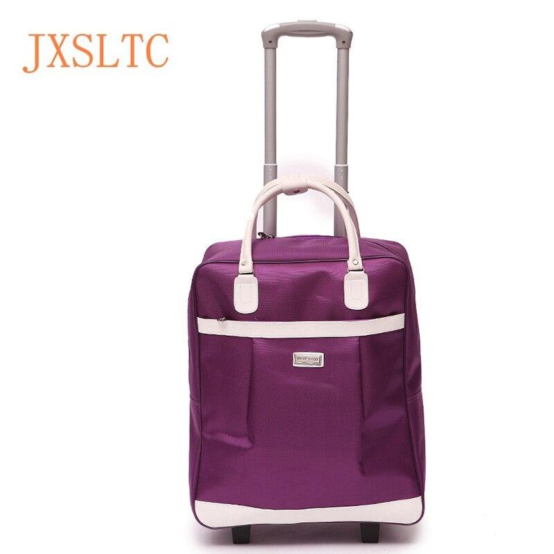 2005f4767 Bolso de la carretilla del equipaje del viaje del equipaje de mano  impermeable de gran capacidad Trolley Case del bolso de mano para las  mujeres hombre ...