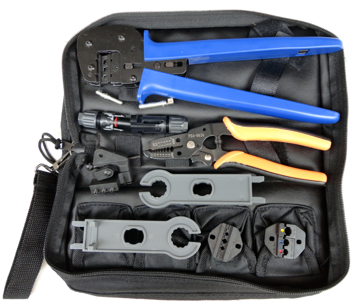 A-K2546B-5 MC4 MC3 crimping tool set with wire stripper,MC4 spanner,MC4 pin lactor,MC3 30J dies multi wire crimper set solar panel tool kit ly k2546b 1 pv tool set mc4 crimping tool set only including mc3 crimping die set mc4 mc3 crimping tool