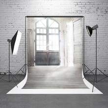 Kate Branco Fundo Photostudio Flor Adereços Fotografia de Casamento Photobooth Porta Interior de Microfibra Lavável pano de Fundo Da Foto