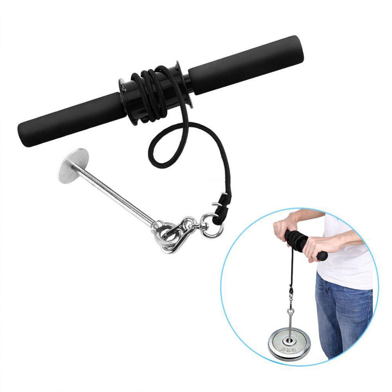 Forearm Strength Trainer for Wrist Strength Hand Grip Hand Strength Exerciser Weight Lifting Rope Waist Roller Equipment