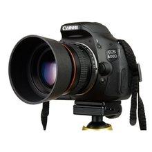 Lightdow 85mm F1.8-F22 lente da câmera do retrato do foco manual para canon eos 550d 600d 700d 5d 6d 7d 60d dslr câmeras