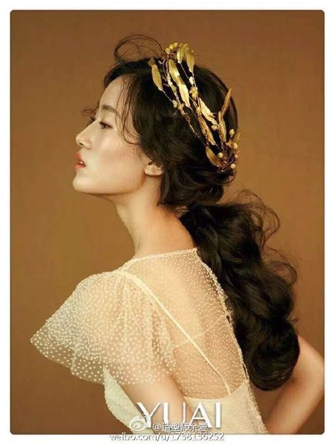 2016 Wedding Accessory The bride gold hair accessory hair accessory pearl luxury fashion hair accessory