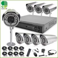 Home 1200TVL 8CH CCTV Security Camera System 8CH DVR 1200TVL Outdoor Day Night IR Camera Kit