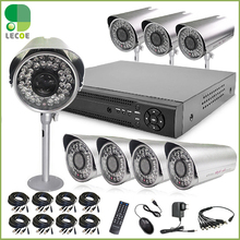 Home 1200TVL 8CH CCTV Security Camera System 8CH DVR 1200TVL Outdoor Day Night IR Camera Kit Color Video Surveillance DVR System
