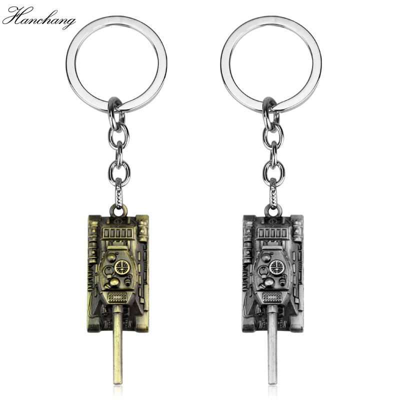 Hot Game 2Colors World of Tanks WOT Metal Tank Key Ring Keychain Pendant Alloy Metal Collection Gift New Jewelry For Men