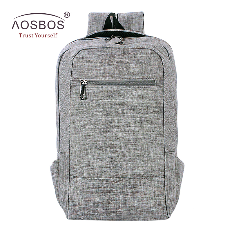 Aosbos Men School Backpacks Large Capacity Waterproof Oxford Backpacks for 15.6inch Laptop Fashion Women School Bags Mochila oxford waterproof black backpacks men women unisex square casual school bags large capacity students college backpacks