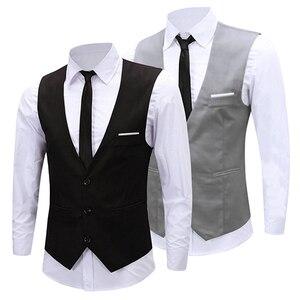 أحدث الرجال الكلاسيكية الأعمال يتأهل سلسلة اللباس الرسمي سترة بدلة سهرة صدرية