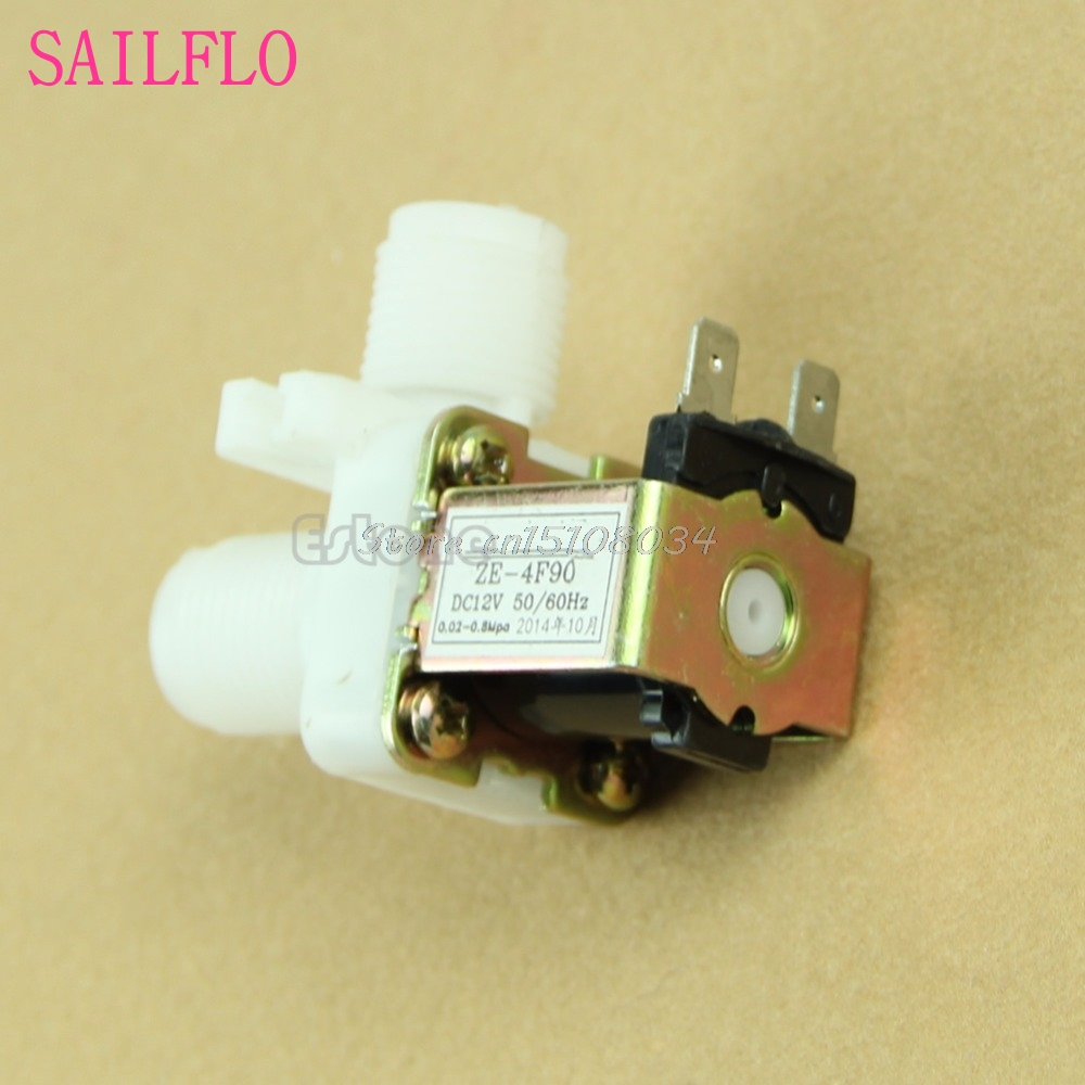 Hot DC 12V Electric Solenoid Valve Magnetic N/C Water Air Inlet Flow Switch 1/2 S08 Drop ship