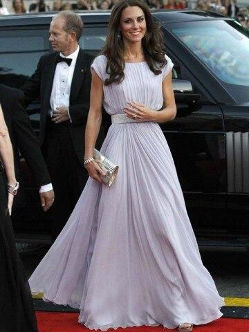 Elegant A line Kate Middleton A Line Column Bateau Belt Sleeveless ...