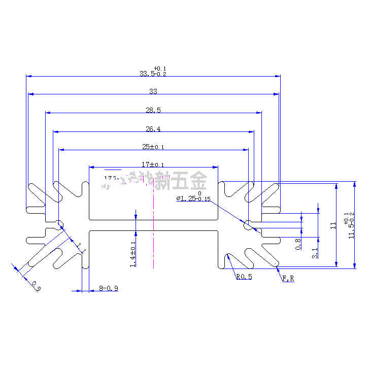 10ピースオーディオ専用アルミヒートシンク34*12*25ミリメートル電子ラジエーターフィントライオード冷却ブロック