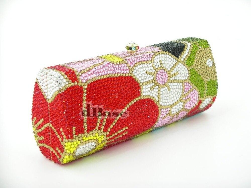 ФОТО 7760TD Crystal Floral flower Lady fashion Bridal Metal Evening purse clutch bag handbag