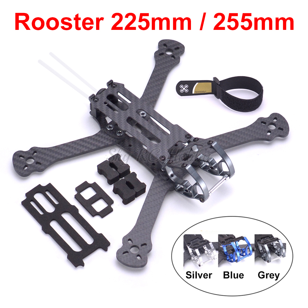 Rooster 5 Inch 230 225mm / 6 Inch 255mm FPV Racing Drone Quadcopter Frame FPV Freestyle Frame For Chameleon QAV-R