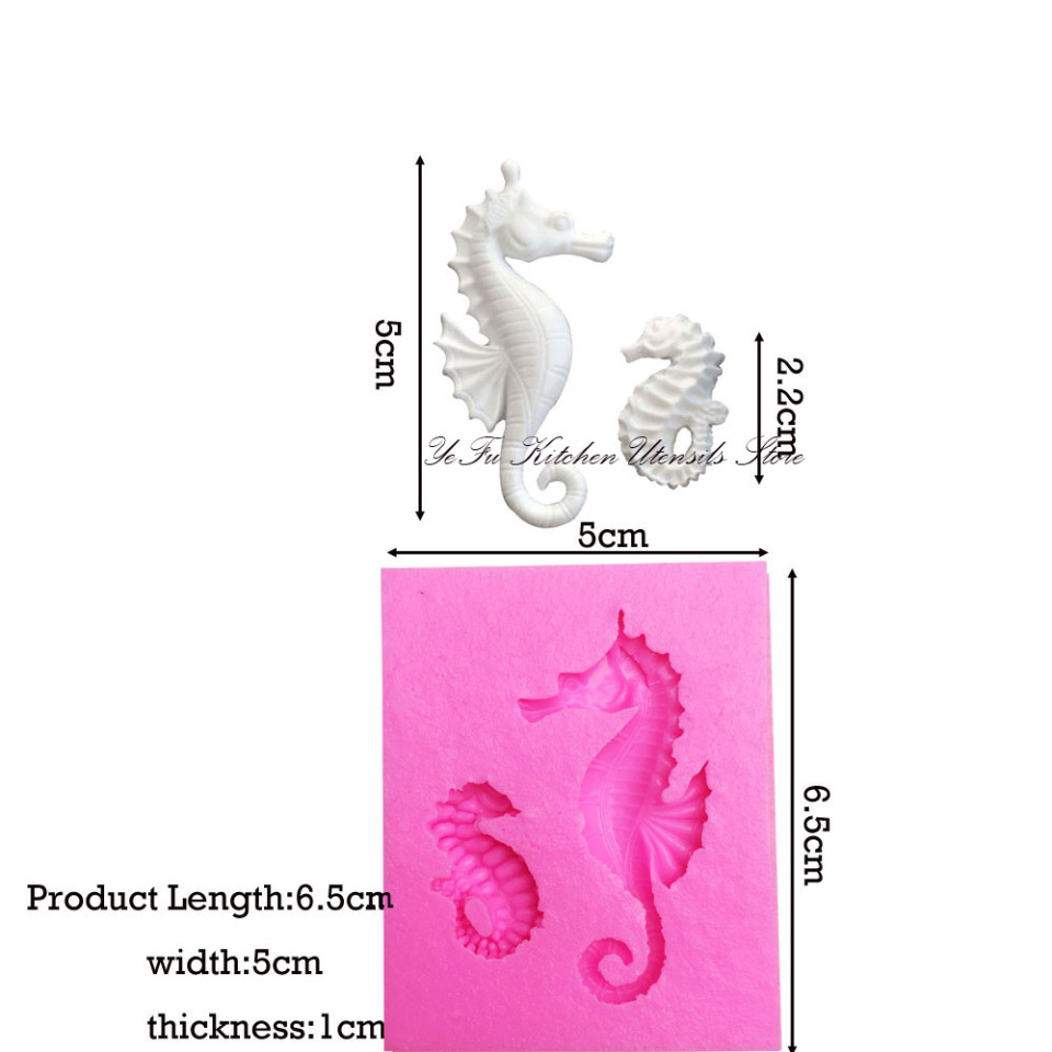 Sea Horse Silicone Fondant Mold Cake Decorating Tools Chocolate Gumpaste Mold ZT