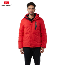 MALIDINU 2019 Duck Down Jacket Men Winter Coat Parka Brand Thick Warm Hooded Man Red Outwear -30C