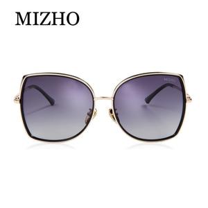 Image 4 - MIZHO marka miedziane metalowe kwadratowe spolaryzowane okulary przeciwsłoneczne dla kobiet gradientowe luksusowe stylowe akcesoria optyczne TR90 okulary damskie ponadgabarytowe